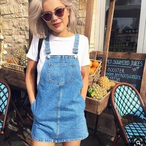 Demin Pinafore Overall Dress